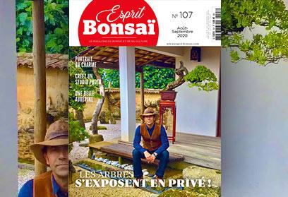 Esprit Bonsaï n°107 Août-Septembre 2020 Les arbres s'exposent en privé